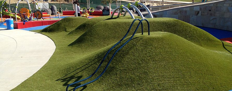 Playground Grass is Safe to Play on and Soft to Fall on from ForeverLawn of Ohio