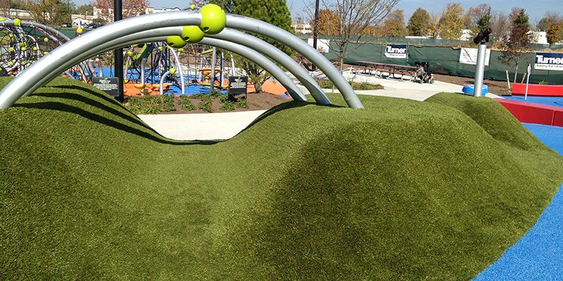 Summit Park with Playground Grass a soft surface for kids in Ohio