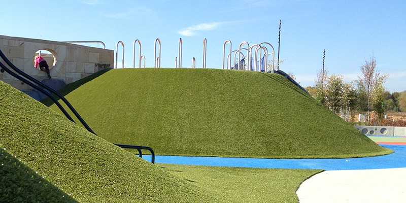 Summit Park in Blue Ash is Just One of the Many Playground Grass Projects from ForeverLawn of Ohio
