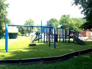 After Playground Grass Installation