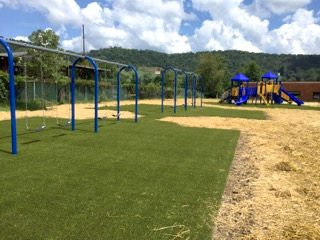 School District Playground Grass Ultra Installation