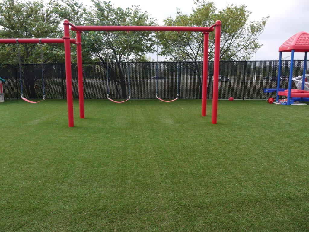 Prep Academy Playground Grass Installation Foreverlawn Of Ohio Inc